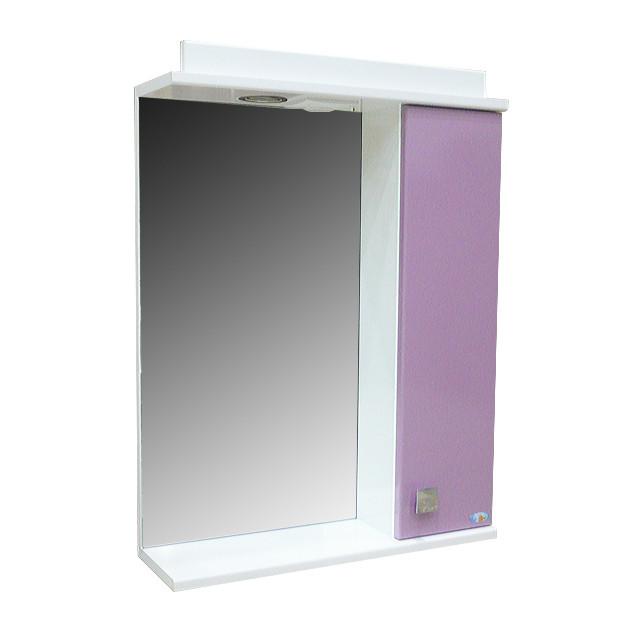 Зеркало Амадин 04 с подсветкой 50 см Фиолет-пастель