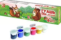 Краски Гуашь Луч ZOO 6 цветов, (19С 1250-08) блок-тара, объем краски в банке 15мл (Оригинал) уп28