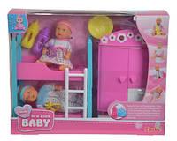 Кукольный набор NBB, два пупсы и спальная комната, 3+