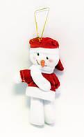 Ёлочная игрушка (мягкая)-Снеговик-16,0 см.