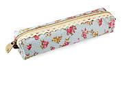 Чехол пенал для кистей в винтажном стиле с цветами