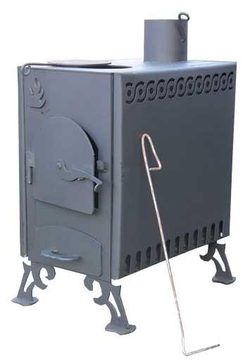 Печь-буржуйка двухкамерная конвекционная