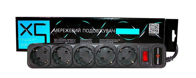 Сетевой фильтр удлинитель LogicPower 5 розеток 3.0 m