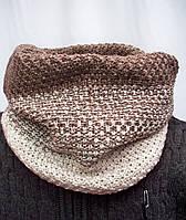 Стильный молодежный шарф-снуд