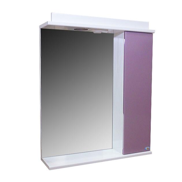 Зеркало Амадин Б/Р с подсветкой 50 см Фиолет-пастель