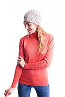 Женская шапка вязанная резинкой