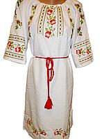 """Жіноче вишите плаття """"Казкові троянди"""" (Женское вышитое платье """"Сказочные розы"""") PN-0051"""