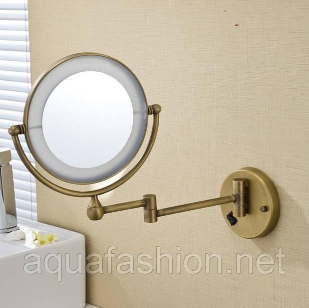 Настенное косметическое зеркало с подсветкой