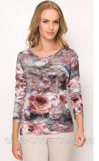 Блузка, кофточка женская с длинным рукавом с цветами SUNWEAR Z34