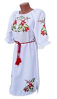 """Жіноче вишите плаття """"Прекрасні лілії"""" (Женское вышитое платье """"Прекрасные лилии"""") PN-0052"""