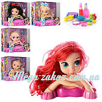 """Кукла манекен для причесок """"Принцессы Диснея"""" 28см (голова для причесок): аксессуары в комплекте"""