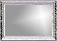 Рамка для зеркала 60х40 см белая с золотым рисунком