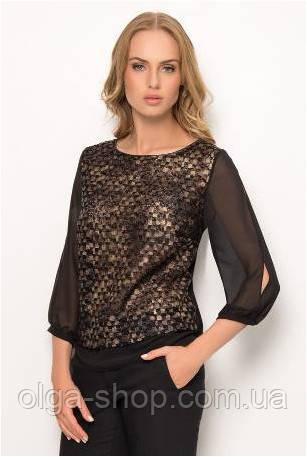 Блузка, кофточка женская черная с длинным рукавом SUNWEAR Z41