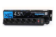 Сетевой фильтр удлинитель LogicPower LP-X6 6 розеток 4,5 m