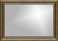 Рамка для зеркала 60х40 см коричневая с золотом