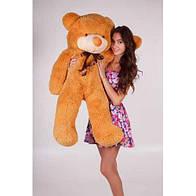 Плюшевая игрушка медведь, мишка 120 см, карамельный.