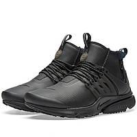 Оригинальные  кроссовки Nike Air Presto Mid Utility Black & Volt