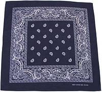 Бандана 55x55см тёмно-синяя с белым MFH 16403G