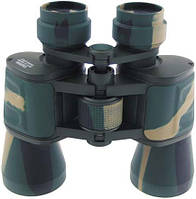 Бинокль 10x50 Ruby lens, лесной камуфляж, с чехлом MFH 34683T