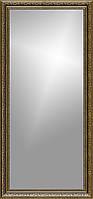 Рамка для зеркала 45х110 см коричневая с золотым рисунком