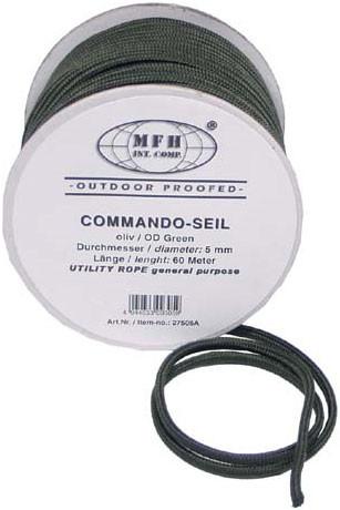 Верёвка 5мм оливковая, 60м, MFH 27505A