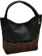 Стильная женская сумка из натуральной кожи 010-1 835 black черный