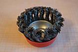 Щітка торцева (Чашка) з рифленого дроту 65 мм, фото 2