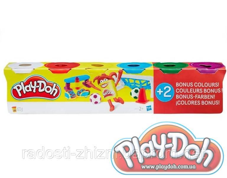Пластилин Play Doh 4+2, 6 штук по 112 гр