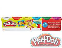 Пластилин Play Doh 4+2, 6 штук по 112 гр , фото 1