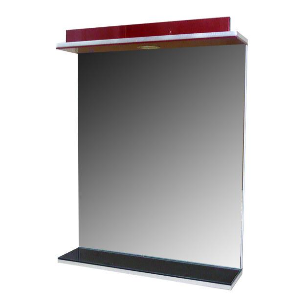 Зеркало 60 Дебют шахматный черный-бордо