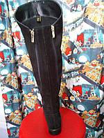 Ботфорты женские зима замша натуральная на низком каблуке на широкую ногу