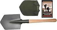 Прочная лопата с деревянной ручкой и чехлом MFH 27025