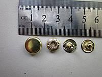 Кнопка альфа 12,5мм золото