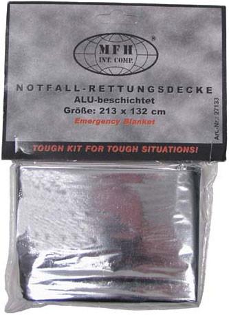 Спасательное одеяло изотермическое серебристое MFH 27133