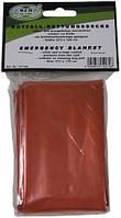 Спасательное одеяло оранжевое/серебристое MFH 27135