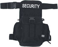 """Сумка на ногу для путешествий, чёрная, MFH """"Security"""" 30704A"""