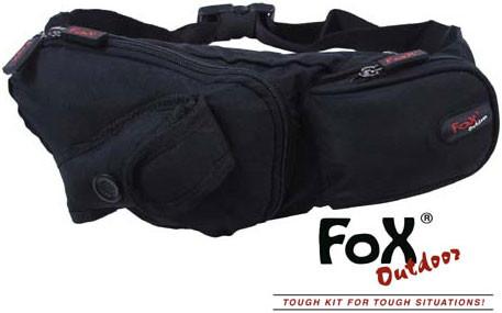 Сумка на талию чёрная с отделением для мобильного телефона Fox Outdoor 30973A