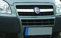 Fiat Doblo II 2005+ гг. Накладки на решетку радиатора (2 част., нерж.) OmsaLine - Итальянская нержавейка