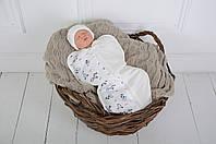 """Пеленка-кокон для новорожденного на молнии Half """"Зебра"""" от 0 до 3 мес, фото 1"""