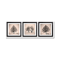 Модульная картина: Деревья (ч/б) (75х22 см)