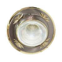 Встраиваемый точечный светильник Feron NL09 R50/E14 (титан-золото)
