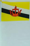 Флажок Брунея 13x20см на пластиковом флагштоке