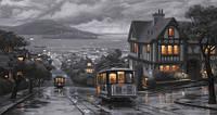 Репродукция на холсте, Сан-Франциско, трамвай