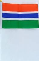 Флажок Гамбии 13x20см на пластиковом флагштоке