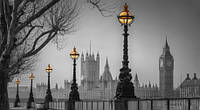 Репродукция на холсте, Лондон. Вид с набережной