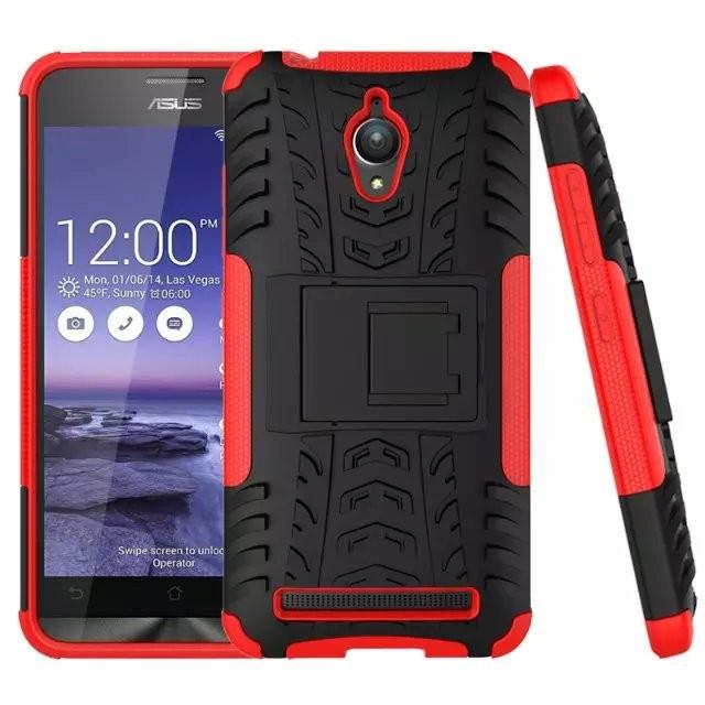 Чехол Armor для Asus Zenfone Go ZC500TG противоударный бампер красный