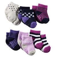 Комплект махровых носочков для девочки Carters Полосочки, Размер 0-3, Размер 0-3