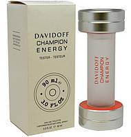 Мужская туалетная вода Davidoff Champion Energy (Давидов Чемпион Энерджи) ОАЭ (тестер без крышечки) DIZ /0-031