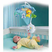 Карусель ночник с проектором и куполом «ЖИВАЯ ПЛАНЕТА» аналог FISHER-PRICE