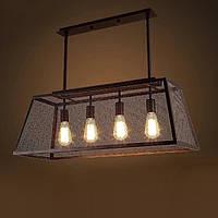 Подвесной светильник LOFT [ Classic mesh ] (4 Lamp Edisons)
